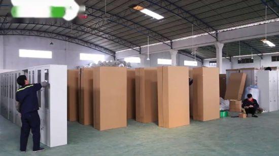 Single Column Four Tier Metal Wall Shoe Cabinet Office Employee