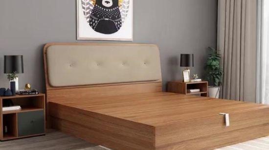 Mobilia di legno moderna della camera da letto dell\'appartamento dell\'hotel  della casa del salone del MDF