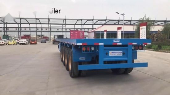Flatbed For Sale >> China 3 Axle Tanzania Used Flatbed Trailer For Sale China