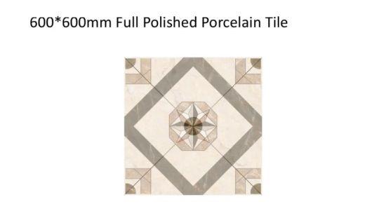 China 600x600 Glossy Look Glazed Porcelain Tiles Polish Tile For