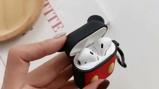 Of Airpods Case 3d Cartoon Earphone Cover With Finger Ring Strap Protective Plastic Silicone Case For Airpods 1 2 Charging Case