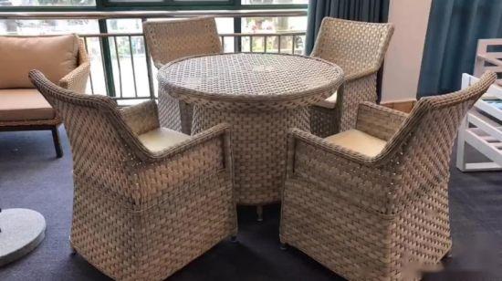 L\'extérieur salon en rotin canapé meubles de jardin canapé d\'angle de coupe