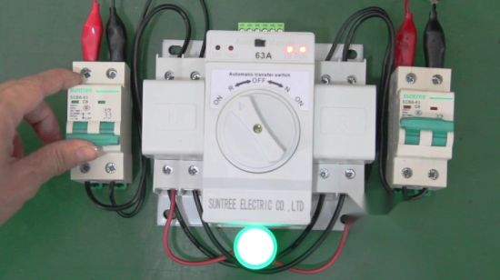 China Sq3w Series 63 AMP Manual Auto Transfer Switch for