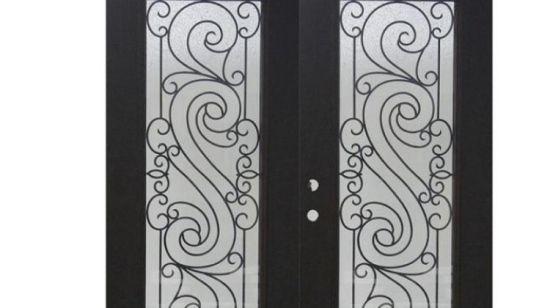 Fangda Simple Style Steel Front Iron Window Grill Door Design China Wrought Iron Door Safety Steel Door Made In China Com