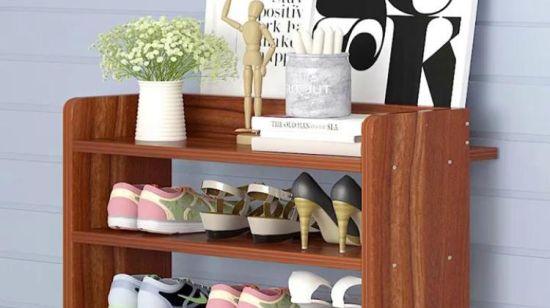 Simple Design Wooden Melamine Shoe Cabinet Shoe Rack Shoe Box