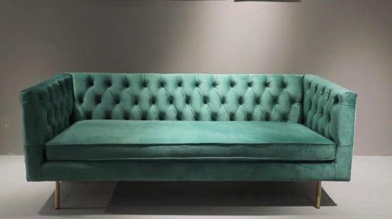 LIFA LIVING Taburete reposapies Sofa Color Rosado escabel Puff Relajante de Terciopelo Silla Taburete bajo Base de Madera 38x35x53cm