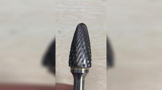 """3//4/"""" Diameter 1//4/"""" Shank Spherical Ball USA Carbide Burr Aluminum Cut SD-7NF"""