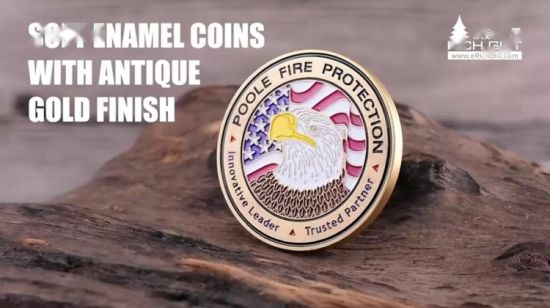 China Custom Memorial Challenge Coin With Wooden Coin Box Velvet