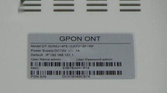 China Gpon ONU 4fe CATV Single Fiber RF Port Ont in India Price