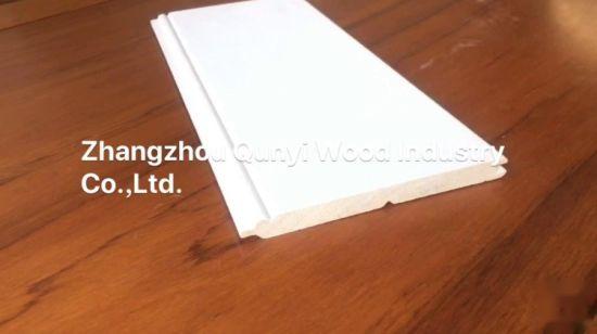 China Hot Sell Finger Joint Primed Wood Moulding Baseboard
