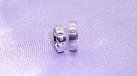 Jewelry Decorate Setのための粋なUnisex Brushed Customize Titanium Ring