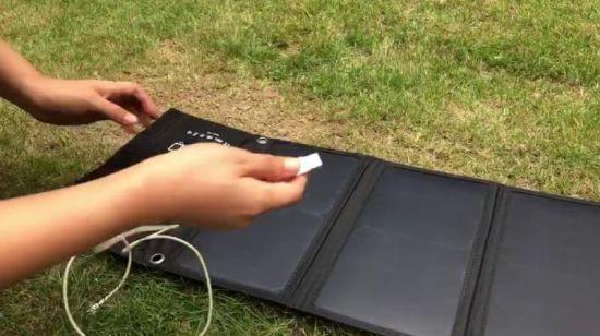 Pliant Panneau Solaire Cellule Solaire pour téléphone Chargeur de Voyage USB chargeur pour iPhone X