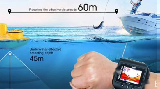 1.77 pulgadas TFT pantalla Color Wireless Watch Fishfinder Sonar (FF518)