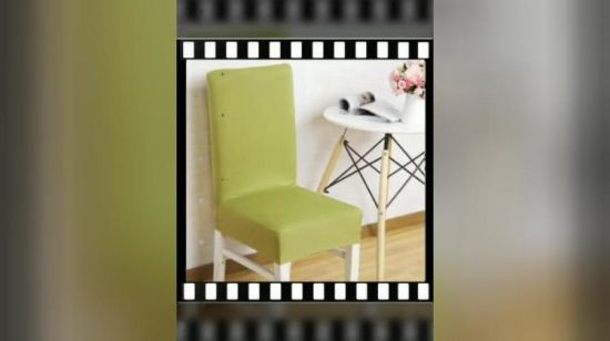 China Wholesales Stretch Dining Room Chair Seat Cover Slipcovers