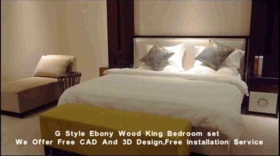 Chambre à coucher Mobilier de chambre à coucher modernes Set de meubles en  bois de l\'hôtel de luxe 5 étoiles personnalisé