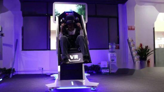 China 9d Vr Simulator Roller Coaster Chair 360 Degrees Rotating
