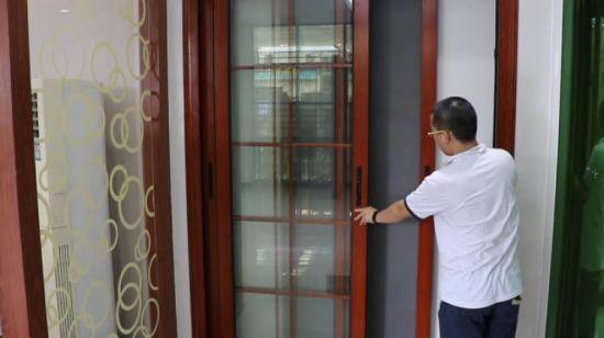 [Hot Item] Exterior Dorma Aluminum Glass Sliding Door with Mosquito Screen  Door