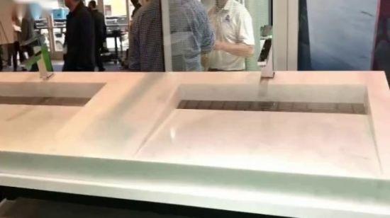 Chine Navire de couleur grise Salle de bains Surface solide ...