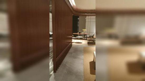 Mesa De Comedor madera maciza con madera de la pierna para Comedor