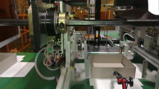 China Automatic Rigid Box Maker with Camera Positioning