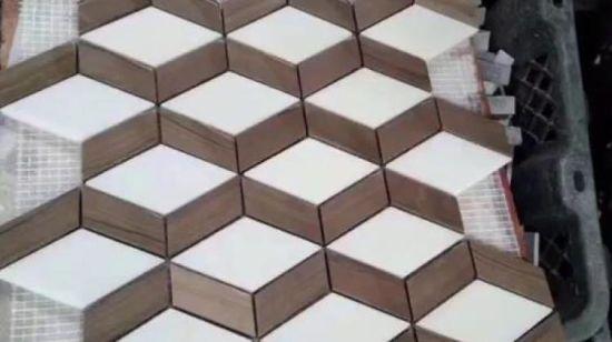 Chine Travertin naturelles/ mosaïque de pierre pour salle de ...