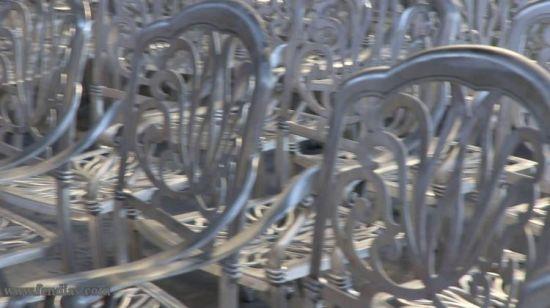 Chine 3 pièce en aluminium moulé Cafe Bistro Set Patio ...