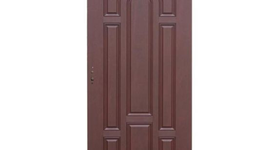 China Fangda 9 Panels Modern Frosted Glass Steel Metal Prehung Door   China  Steel Glass Door, Steel Prehung Door