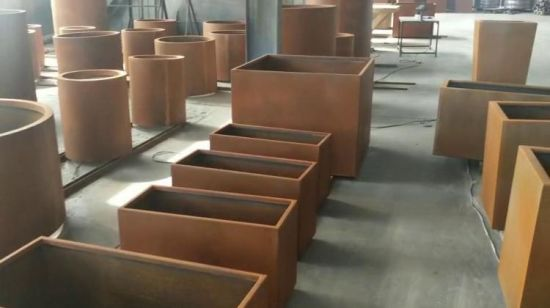 China High Quality Corten Steel Rusted Metal Raised Vegetable Garden Grow Bed And Plant Containers China Raised Garden Bed And Corten Steel Planter Pot Box Price