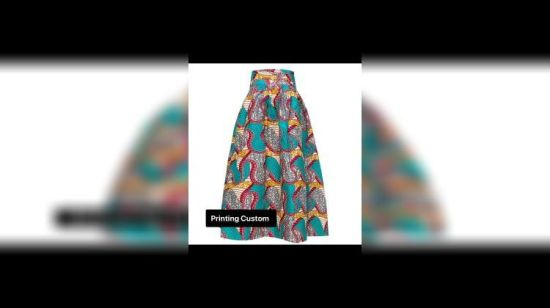 5d8a220535 China Women Orange Fashion Deluxe African Print Maxi Skirt of Amazon Hot  Sales - China Skirt, African Printing