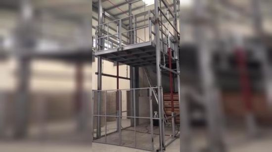 Electric Cargo Lift Vertical Hydraulic