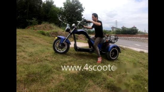 Acheter 2020 Nouvelle Meilleure vente 60V CEE Electric 3 trois roues scooter moto Citycoco Trike adulte