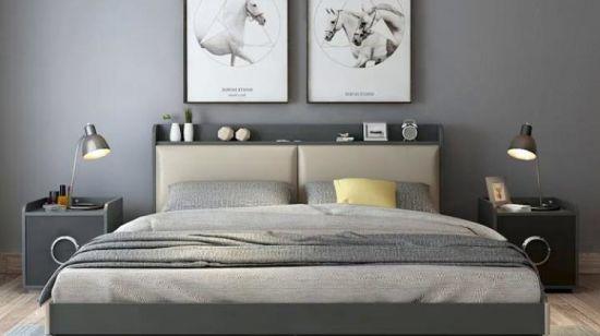 Accueil Hôtel moderne de style simple chambre à coucher Mobilier Set Double  lit (UL 9GD058)