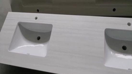 Chine Bol double Surface solide Fancy Salle de bains Meuble ...