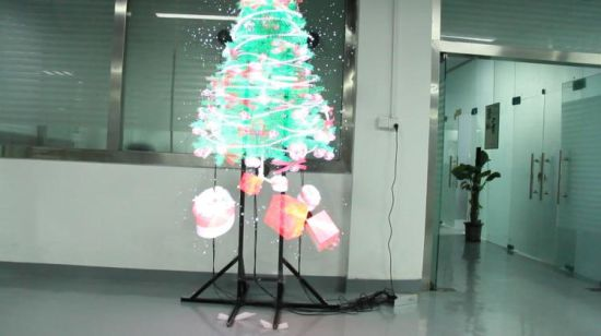 Hologram Christmas Tree Projector.China Led Display For Advertising 3d Hologram Fan 50 Cm Sd
