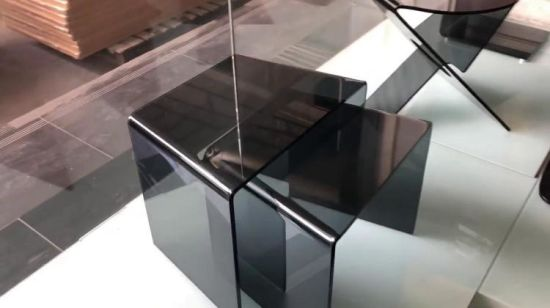 Excellent Cheap Curved Grey Color Glass Sofa Side Table Price China Onthecornerstone Fun Painted Chair Ideas Images Onthecornerstoneorg