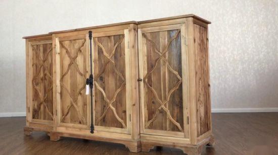 деревенский древесины большой деревянный обеденный зал буфеты шкаф Sideboards блока управления