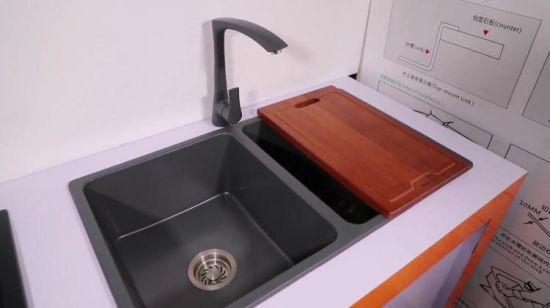 Doppelte Filterglocke Topmount Deutschland Granit-Küche-Wanne ohne  Abfluss-Vorstand