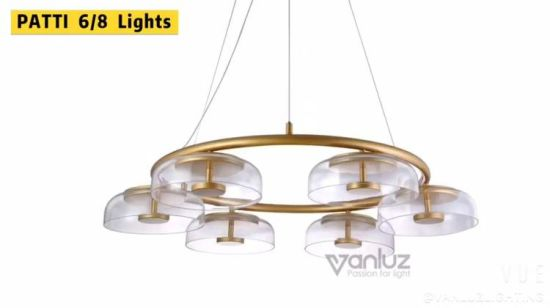 Hot Item Adjustable Rose Gold Glass Chandelier Bubble Ball Ceiling Lights