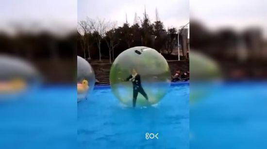DE Zorb 2 M Walk Water Walking Dance Ball Roll Ball Inflatable Ball Tizip Zipper