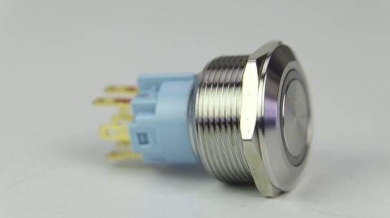 Câble 25 mm Bouton Poussoir DEL Blanc pour interrupteur Acier inoxydable ip67 M