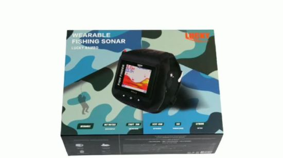 Hand-Hold Sonar Wireless Watch fish finder con pantalla LCD (FF518)