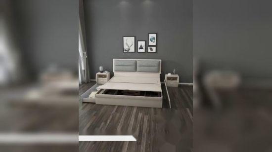 Mobilia di legno cinese poco costosa all\'ingrosso della camera da letto di  disegno della doppia base