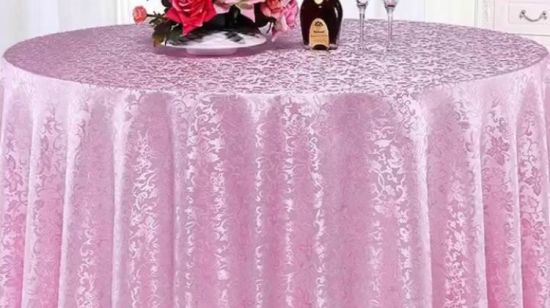China Wedding Tablecloths Purple 120 Round Tablecloth