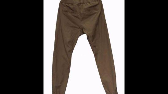 China Hombre De Caqui Pantalones Sueltos Cordon De Algodon En La Cintura Sweatpants Comprar Los Hombres Sweatpants En Es Made In China Com