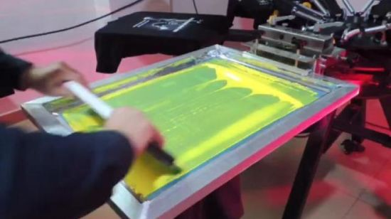 ea244008 China DIY Aluminum Economic 6 Color 6 Station Screen Printing Machine with  Micro Registration with Some Materials - China Aluminum Screen Printer, 6 Color  T ...