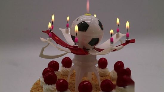 China Wholesale Football Party Cake Candle For Kids