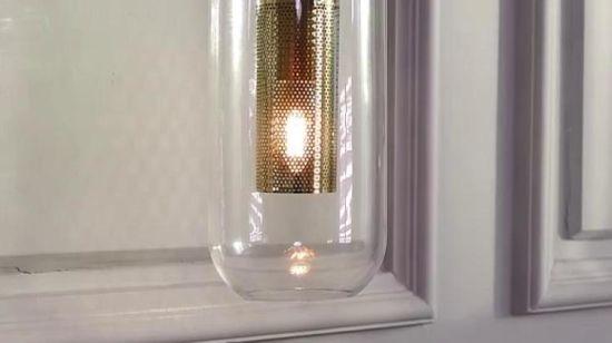 China Hotel-Projekt-Bronzen-moderne Glaswand-Leuchter Licht ...