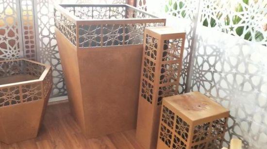 China Superior Modern Design Corten Steel Metal Large Garden