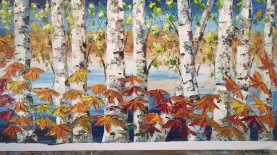Chine Encadree De Bouleau Colore De L Huile Sur Toile Peintures Pour Decoration Maison Acheter Le Paysage Des Peintures D Huile Sur Fr Made In China Com