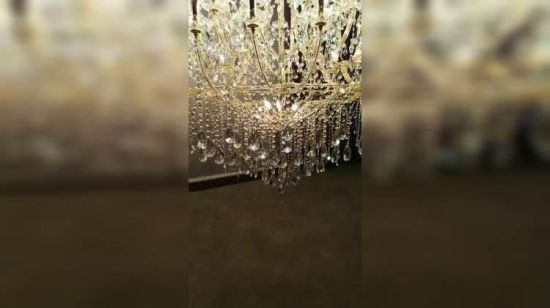 현대 Style Luxury Golden 및 Chrome Glass Lighting 미국 마리아 Theresa Chandelier